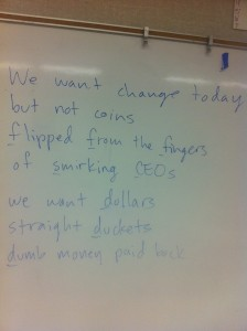 Teaching SLAM Poetry Using Occupy Anger